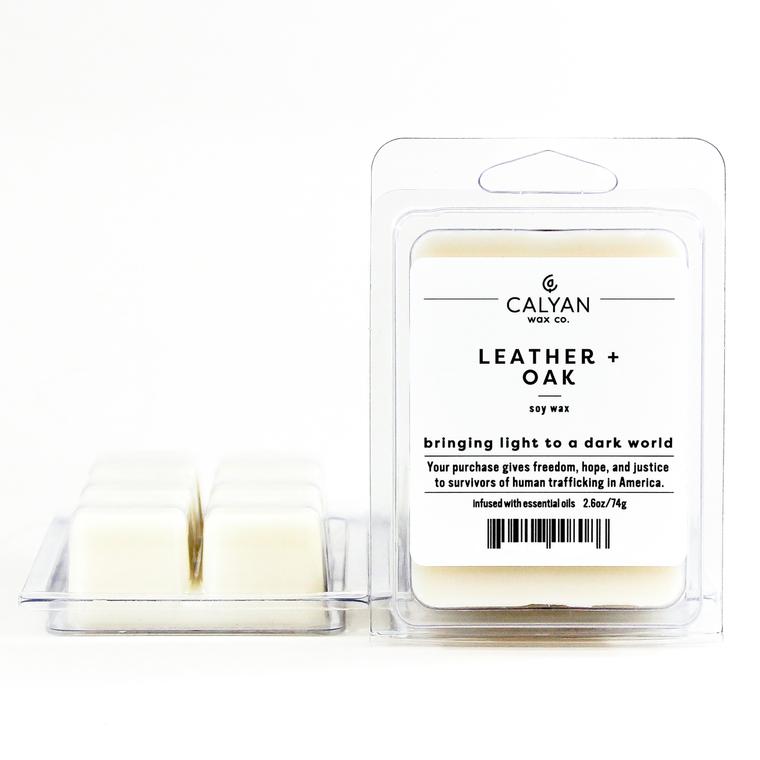 Soy Wax Melt - Leather / Oak