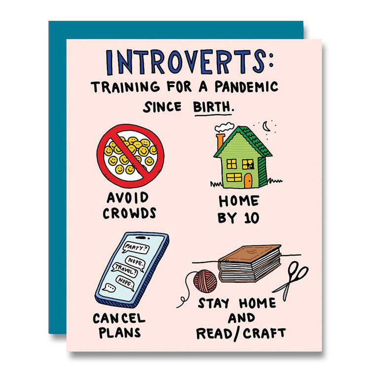 Introvert Covid19 Pandemic Training Card