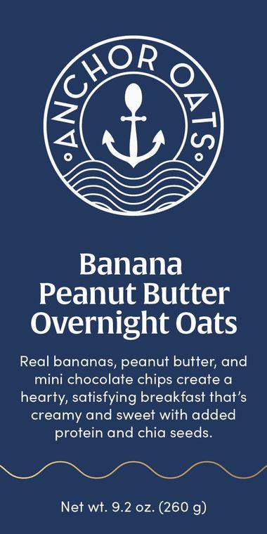 Banana Peanut Butter Overnight Oats | GF | 20 Serving Foodservice Pack
