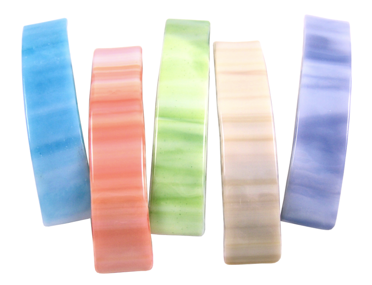 Barrettes Stained Glass Pastel Swirls Color Large Size