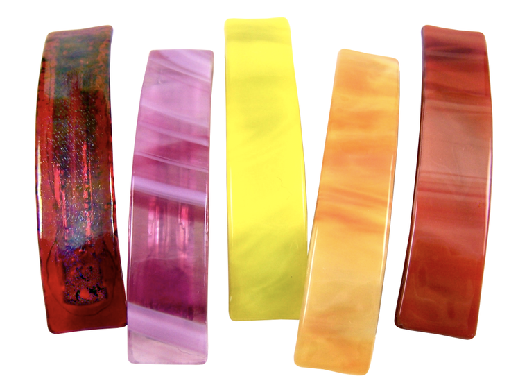 Barrettes Stained Glass Hot Colors Large Size
