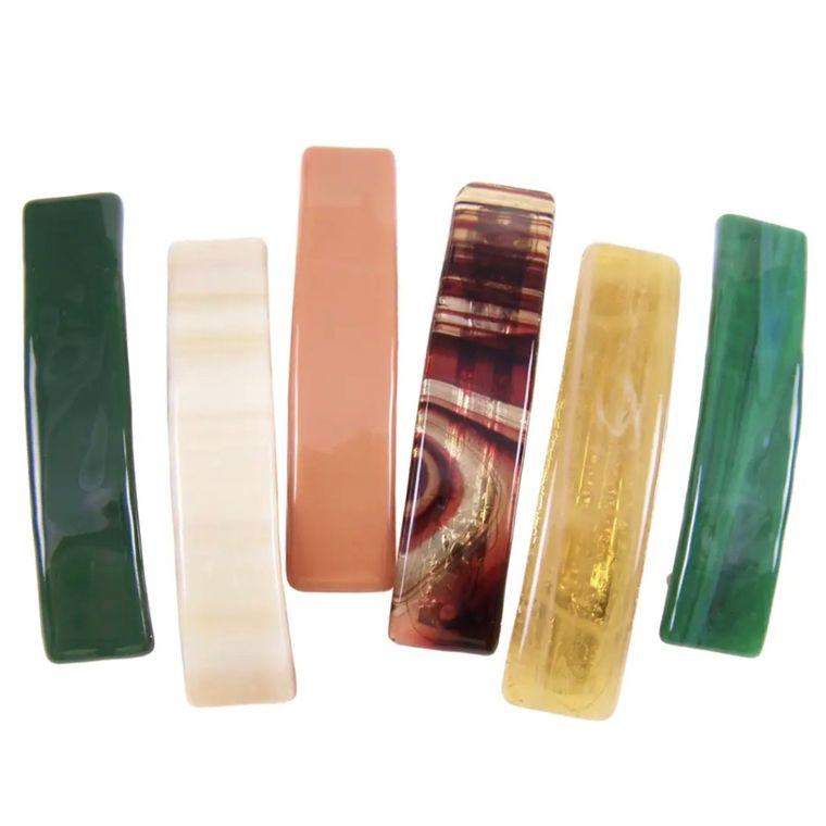 Barrettes Stained Glass Earth Colors Medium Size