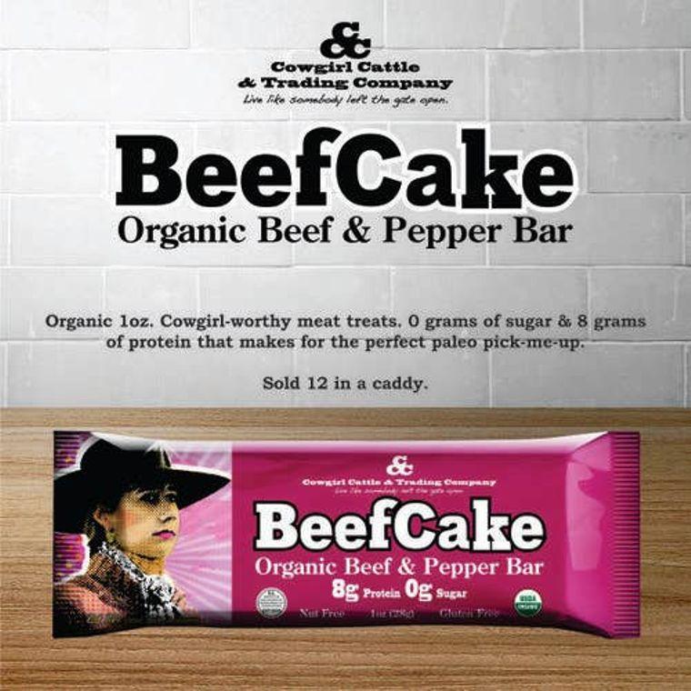 Beefcake Organic Beef and Pepper Bar
