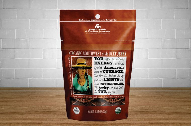 Organic 'Southwest Style' Beef Jerky 1.25 oz. size.