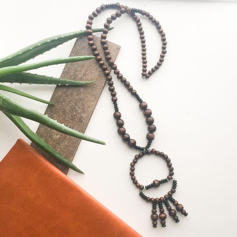 Nomi Wood Necklace