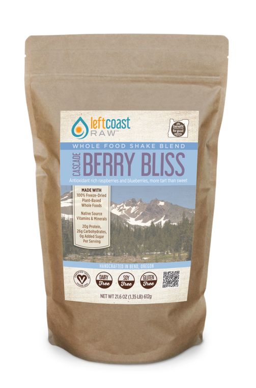 Cascade Berry Bliss Whole Food Shake Blend 12 Serving Pouch