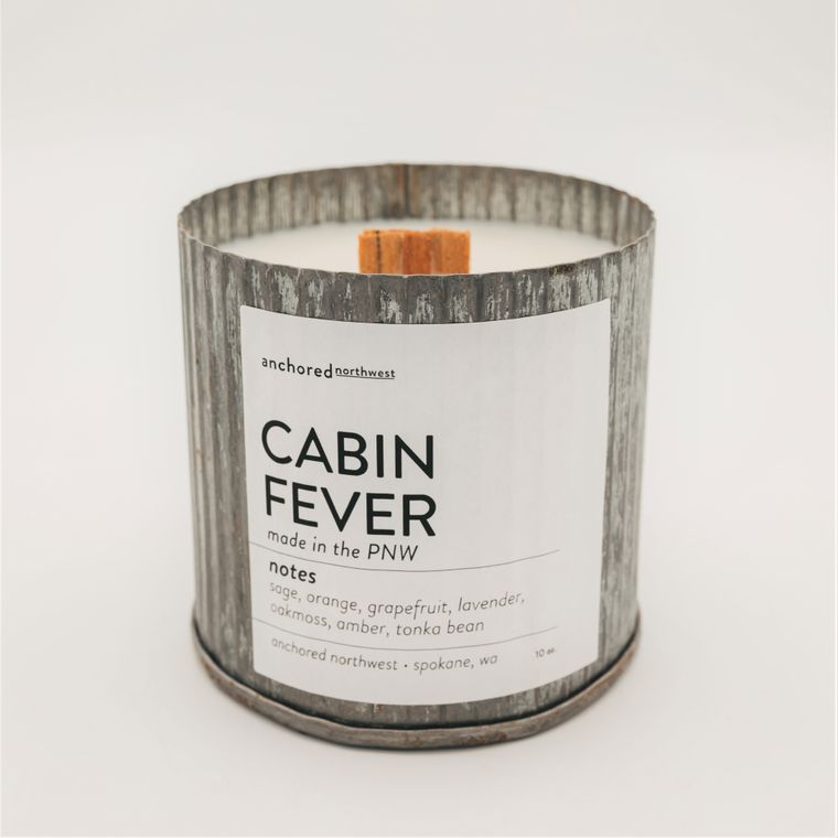 Cabin Fever - Rustic Vintage Wood Wick Candle