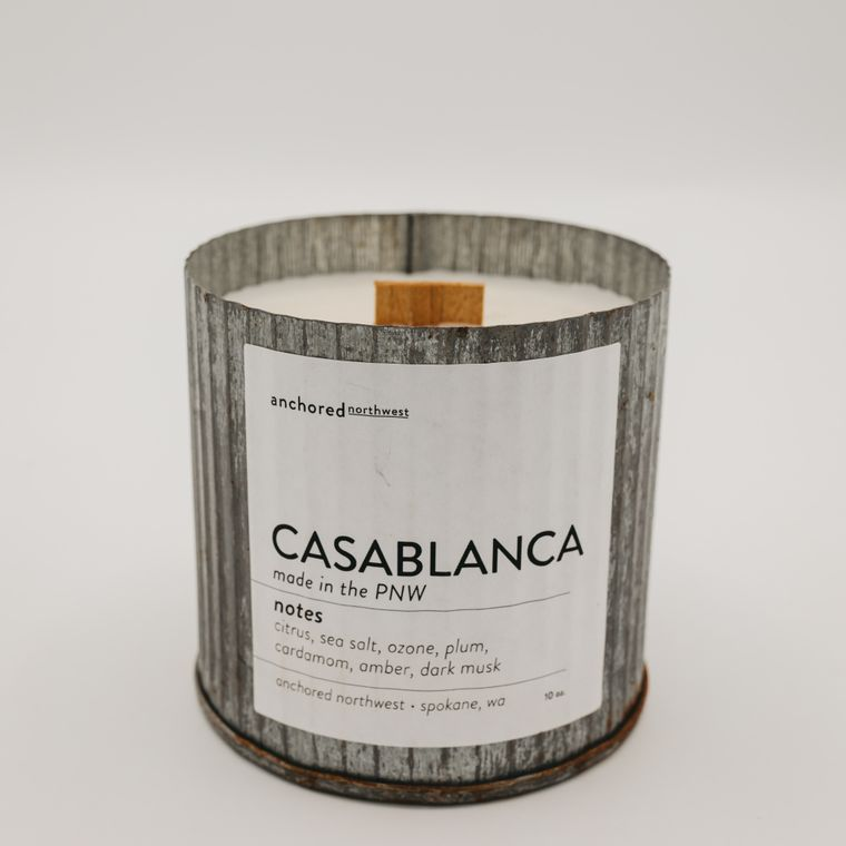 Rustic Vintage Soy Candle - Casablanca (10oz)