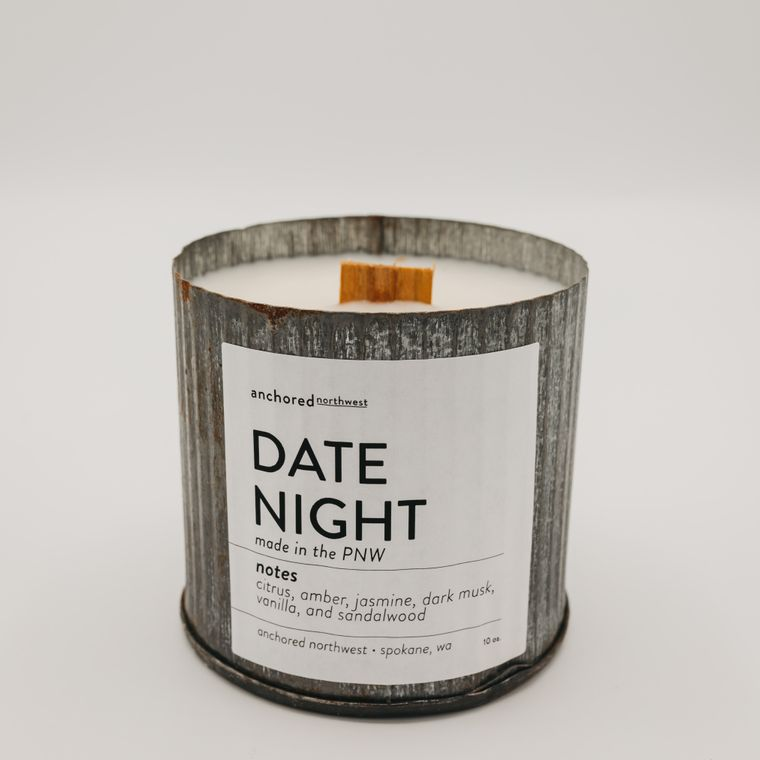 Rustic Vintage Soy Candle - Date Night (10oz)