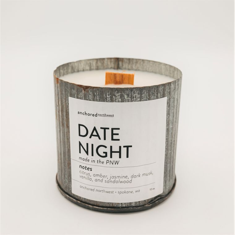 Date Night - Rustic Vintage Wood Wick Candle