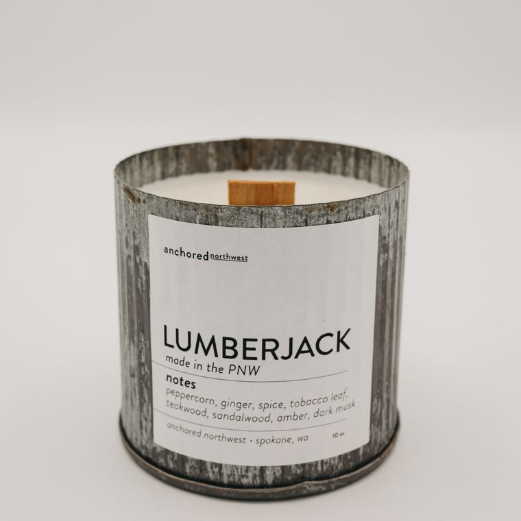 Rustic Vintage Soy Candle - Lumberjack (10oz)