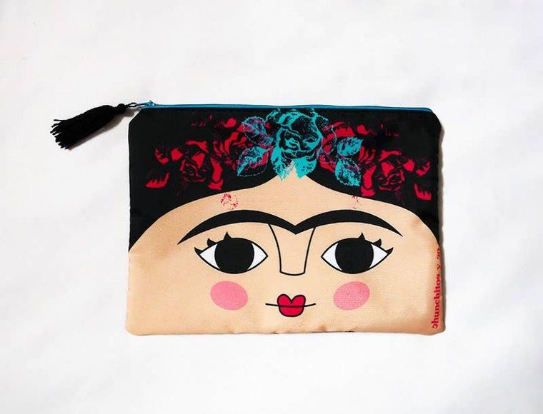 Frida Kahlo cosmetic bag, makeup bag, pencil case