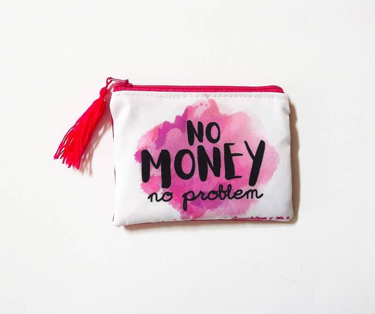 Typography quote purse, zipper pouch, bag