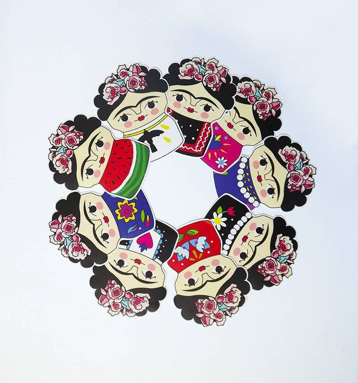 Frida Kahlo stickers, decoration for notebooks and books