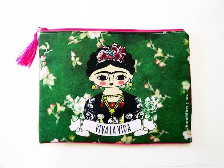 Frida cosmetic bag, makeup bag, pencil case,  zipper pouch