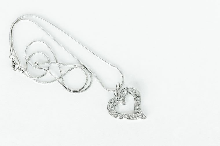 Handmade Valentine's Day Gift- Necklace Jewelry Gift- Asymmetric Heart