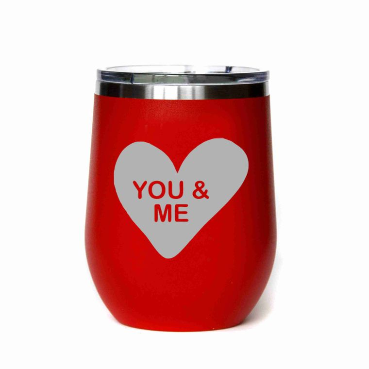 Valentine's Day Gift - You & Me Candy Heart - All Red