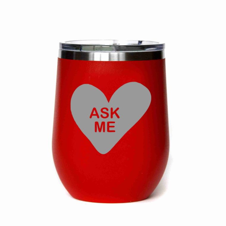 Valentine's Day Gifts - Ask Me Candy Heart - All Red