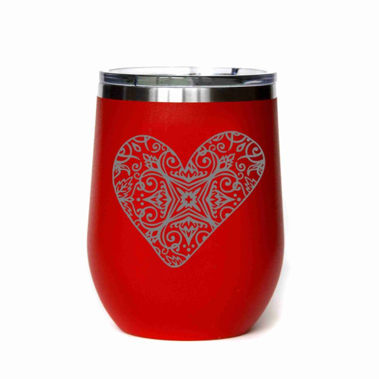 Valentine's Day Gifts - Heart With Pattern - All Red