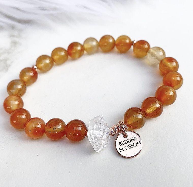 Carnelian Mala Bracelet