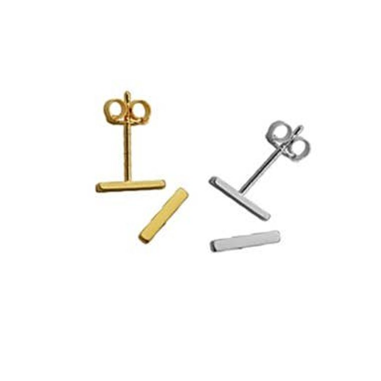 Dainty Bar Studs-Gold
