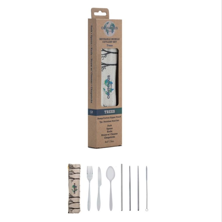 6 Pack of Trees Mobile Cutlery Sets w/ Individual Boxes