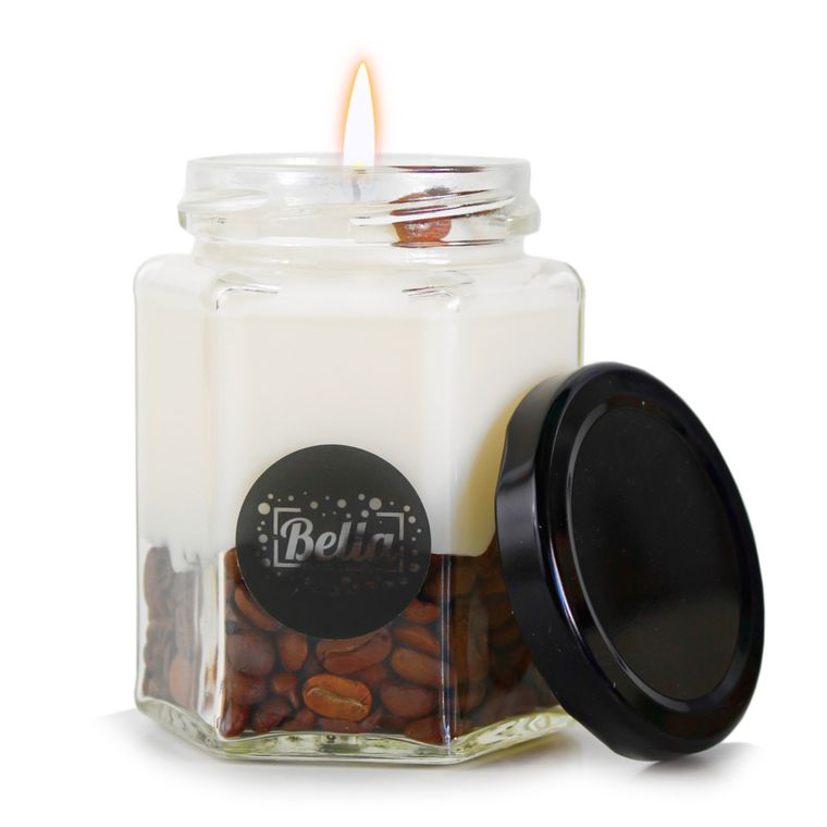 Coffee Falls: Vegan Soy Candle with Coffee Beans (Coffee Vanilla)