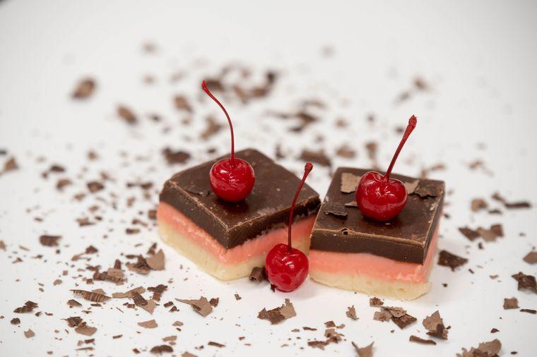 Chocolate Cherry Cheesecake Fudge