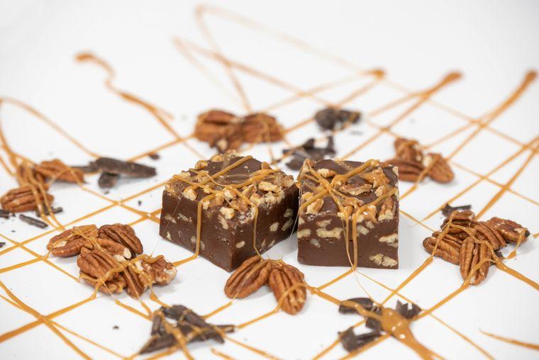 Chocolate Pecan Turtle Fudge