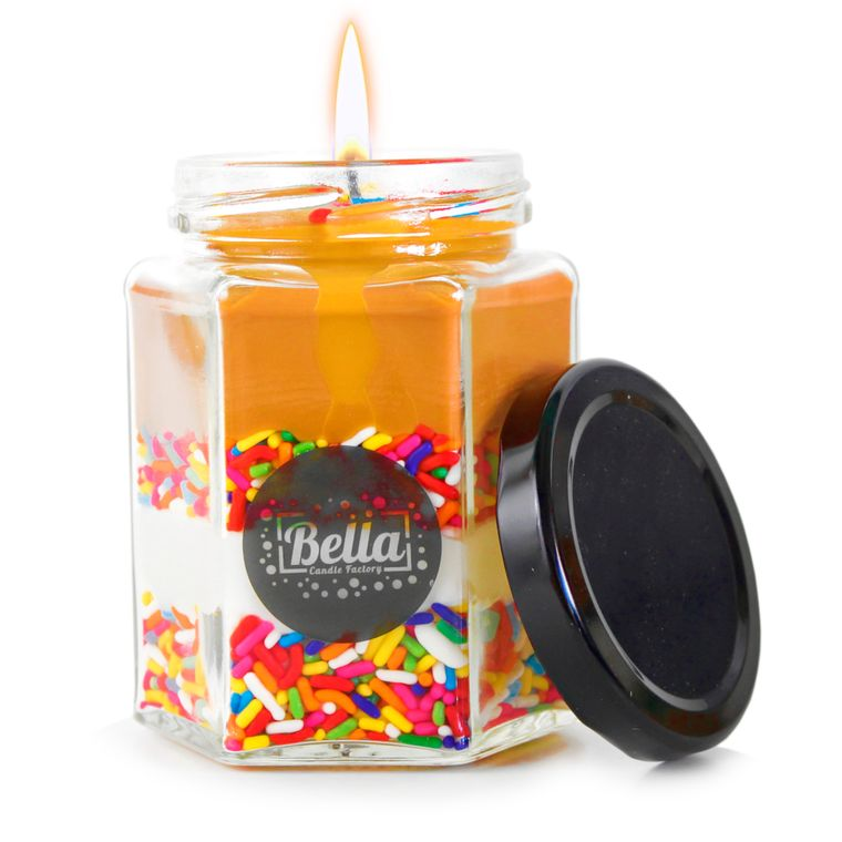 Dolce Cup: Chocolate Sprinkles Dessert Jar Candle - (Chocolate Scent)