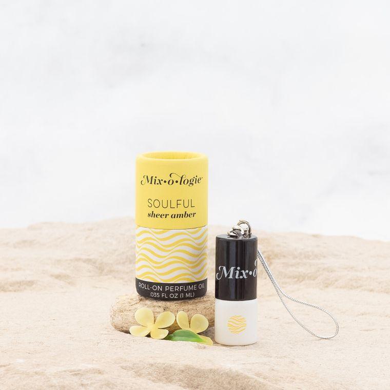 Soulful (sheer amber)  1 mL Keychain Mini Roll-On Perfume