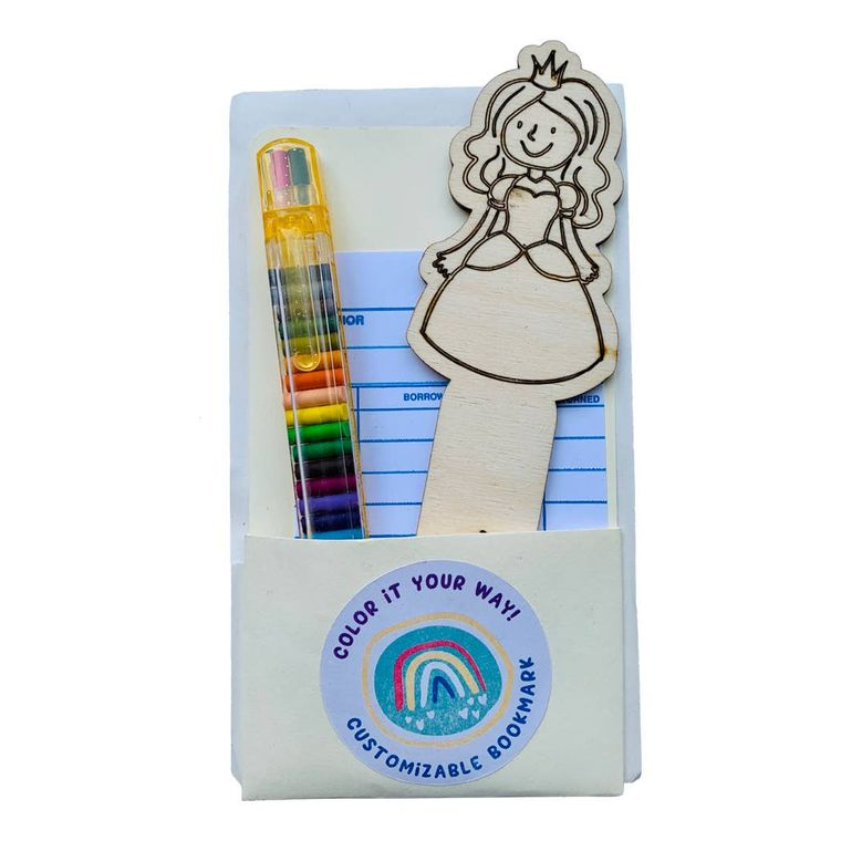 Princess DIY Color Your Own Wooden Bookmark