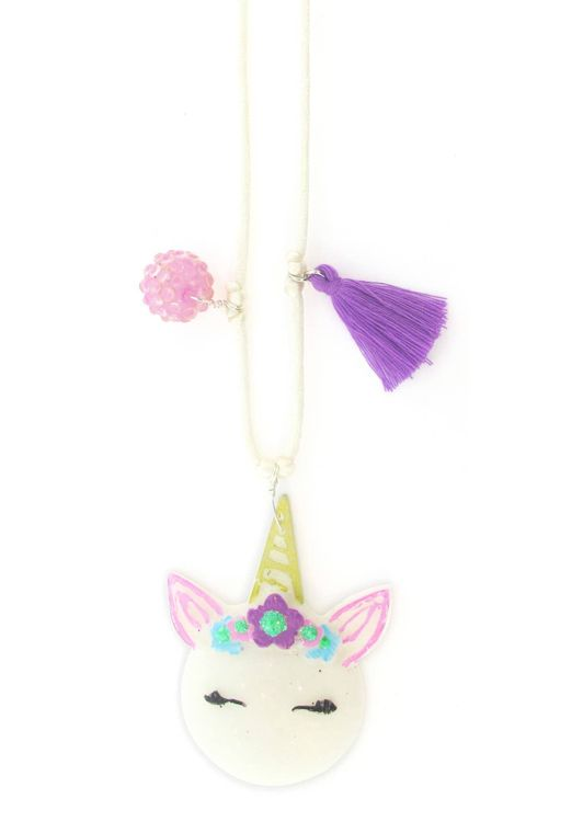 Unicorn Resin Necklace  + Bookmark
