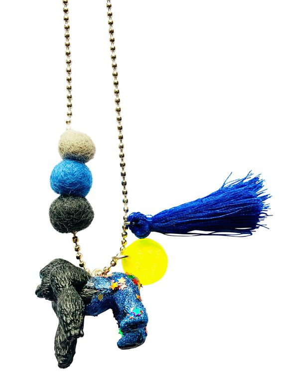 Roxana the Gorilla Animal Buddy Necklace