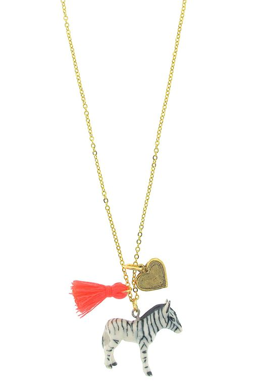 Zebra Lil' Critters Necklace