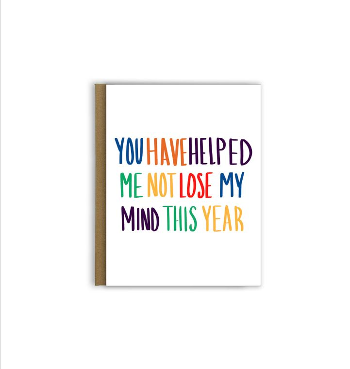 You Have Helped Me Teacher Greeting Card