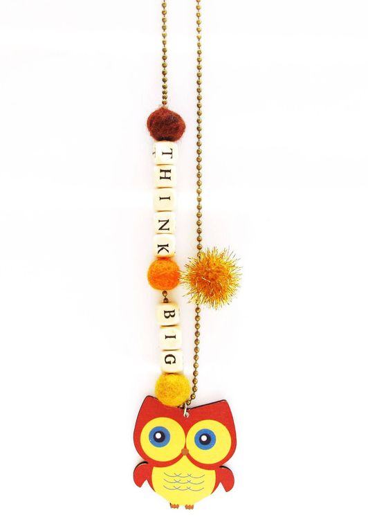 Thing Big Owl Push-pop Necklace - With Push-pop