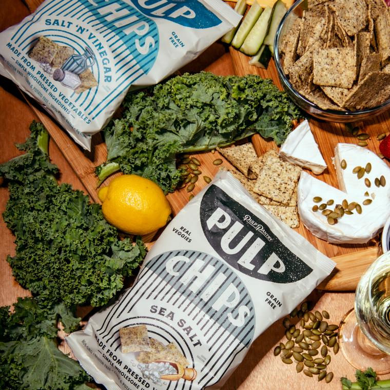 Pulp Pantry Veggie Chips, Sea Salt, 5 oz (Case of 15) | Vegan ~ Grain Free ~ Eco Friendly