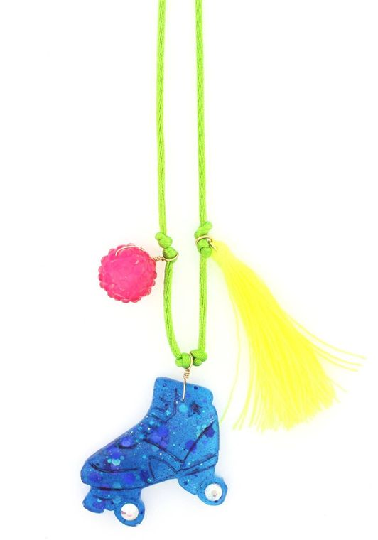 Roller Skate Resin Necklace + Bookmark