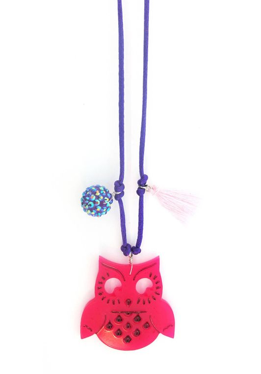Owl Resin Necklace  + Bookmark
