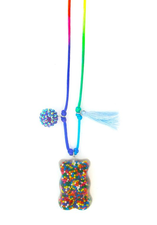 Gummy Bear Resin Necklace + Bookmark