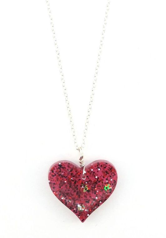 Red Heart Silver Chain