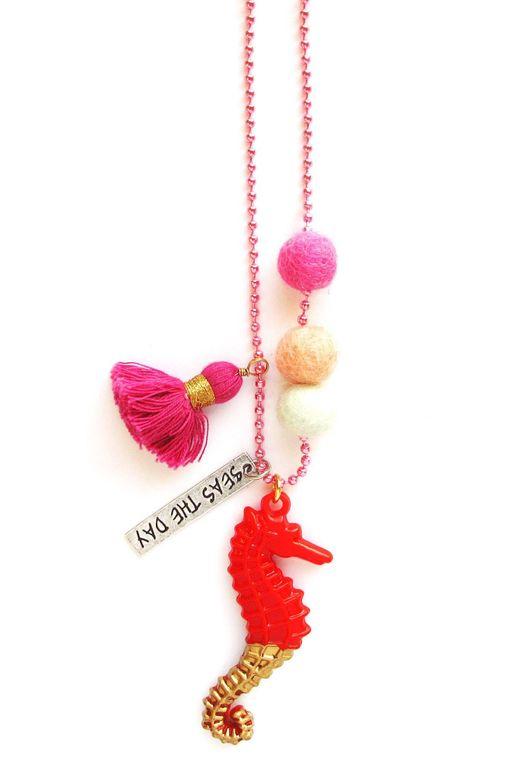 Sam the Seahorse Animal Buddy Necklace