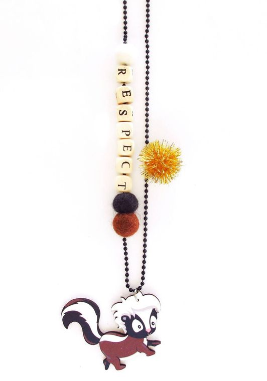 Respect Skunk Push-pop Necklace - With Push-pop