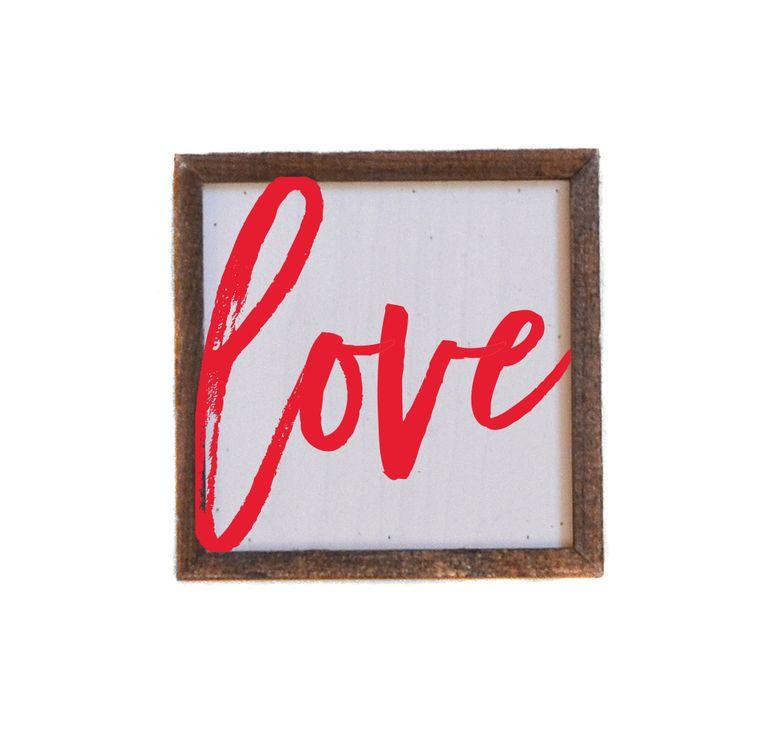 Valentine's Day - 6x6 Love Sign (red)