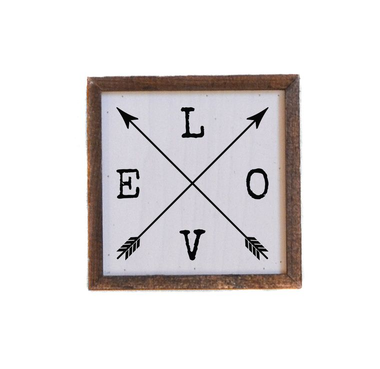 Valentine's Day - 6x6 Love Sign With Arrows