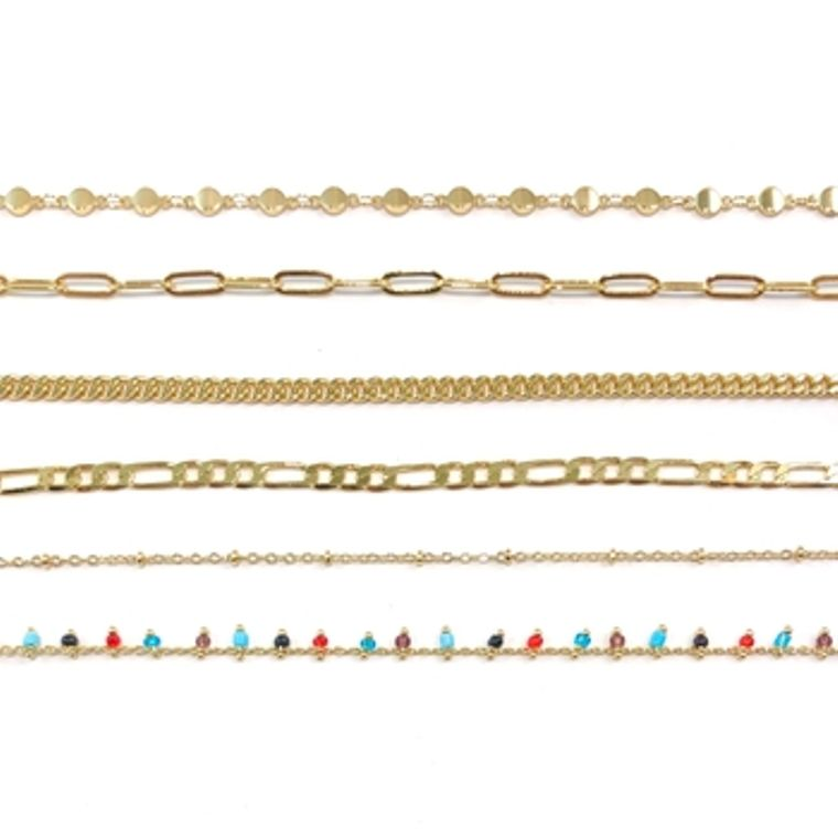Face Mask Chains-Gold