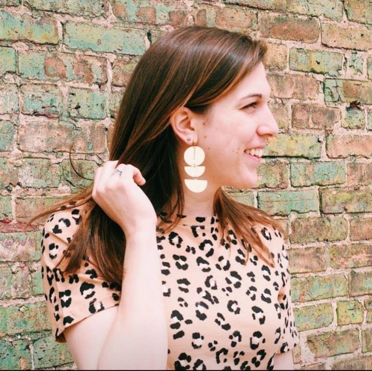 Geometric Drop Earrings Geometric Statement Earrings Modern Brass Earring Big Statement Earrings Minimalist Earrings Modern Jewelry  Dynamo