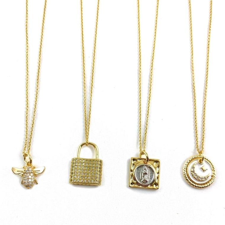 Frankie Gold Necklaces
