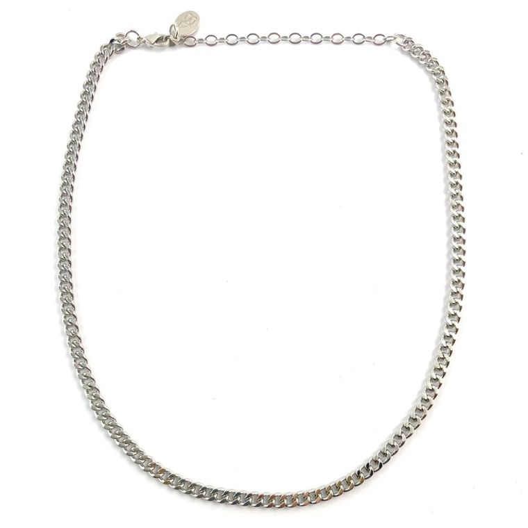 Tish Chain Choker-Silver